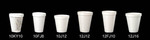 Dart®, Cold and Hot Cup, White, Polystyrene Foam, 12 oz, 25 per Bag|1000 per Case