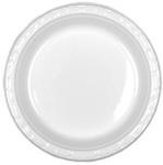 Genpak®, Disposable Plate, Round, Impact Plastic, White, 9 in, Aristocrat