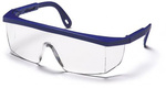 Pyramex SN410S Blue Frame Clear Scratch-Resistant Safety Glasses
