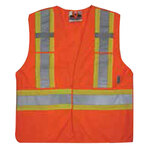 Viking® 5 Point Tear Away Safety Vest, Mesh, Class 2, Orange