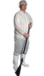 M8 M45W White Poly Disposable Coverall