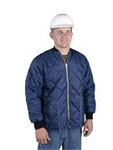 Insulated Jacket w/ National Beef Logo, 420 Denier Nylon, Navy, L, Heavy Duty Brass Zipper, 10 Per Case