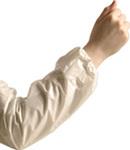 "1 Mil White Polyethylene Disposable Sleeve 16"""
