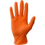 Orange 15 mil Natural Latex Gloves