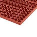 Apache Mills Rubber Anti-Fatigue Mat Grease Proof 5 x 3 Red