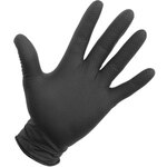 Eagle Protect® 1020302 Diamond Textured Nitrile Gloves, Black