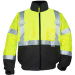 Ironwear 6405-LB Class 3 Premium NiteGlo Lime/Black Bomber Jacket