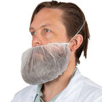 M8 White Polypropylene Disposable Beard Covers, 21""