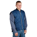 Navy Blue Polyester Lightweight Insulated Vest M8 Chillwear