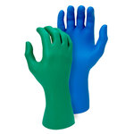 Green Nitrile Gloves 8 Mil Embossed Fish Scale Majestic 3352AG