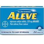 Aleve® 351164 Pain Reliever, Naproxen Sodium, 220mg Tablets