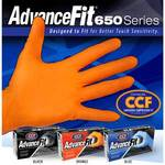AdvanceFit 650 Series Nitrile Powder-Free Exam Gloves Orange Large