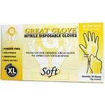 Triune 95JDL Blue Disposable Nitrile Gloves, Powder-Free, 4 mil, XL