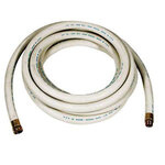 Washdown Hose Assembly ¾ GHT 50 Foot 200 PSI Creamery White